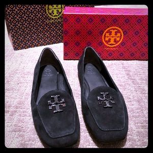 Tory Burch Fitz Loafer in Black Suede